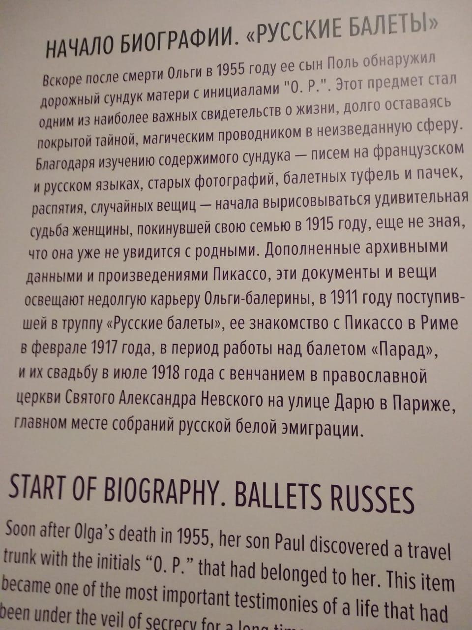 Посещение выставки Пикассо & Хохлова